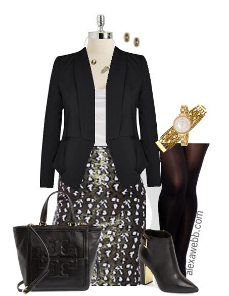 How to wear sequins to work - Plus Size Fashion - Alexa Webb - alexawebb.com