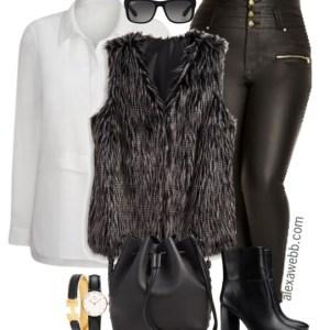 Plus Size Fashion for Women - Plus Size Casual Outfit - Alexa Webb - alexawebb.com - Plus Size Leather Pants - #alexawebb #plus #size #fashion
