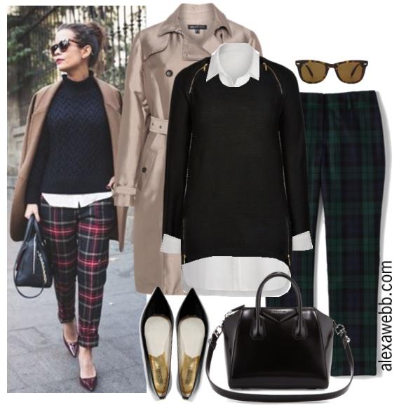 522de8d0ecc0b Straight Size to Plus Size Plaid Pants Outfit - Plus Size Fashion for Women  - Alexa