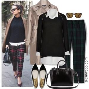 Plus Size Plaid Pants Outfit - Plus Size Fashion for Women - Alexa Webb - alexawebb.com