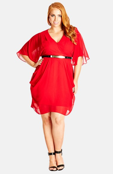Plus Size Red Dresses With Sleeves   Plus Size Valentineu0027s Day Date Dresses    Alexawebb.