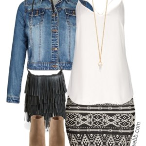 Plus Size Outfit Idea - Plus Size Tribal Skirt - Plus Size Fashion for Women - alexawebb.com #alexawebb #plus #size