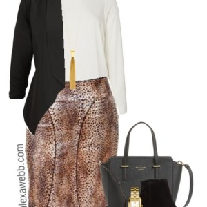 Plus Size Leopard Skirt 3 Ways - Plus Size Fashion for Women - Plus Size Work Outfit #alexawebb #plus #size