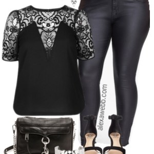 Plus Size Night Out Outfit - Plus Size Fashion for Women - Alexa Webb - alexawebb.com #alexawebb