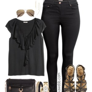 Plus Size Black Jeans Outfit - Plus Size Outfit Idea - Plus Size Fashion - Alexawebb.com #alexawebb