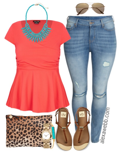 Plus Size Outfit Ideas Summer Brights Alexa Webb