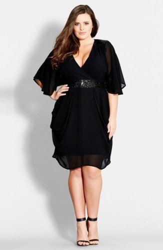 33 plus size wedding guest dresses with sleeves alexa for Plus size dress for wedding guest