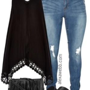 Plus Size Black Boho Outfit - Plus Size Fashion for Women - alexawebb.com