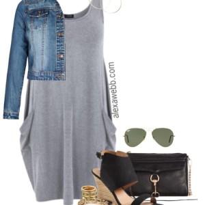 Plus Size Jersey Knit Dress - Plus Size Fashion - Plus Size Outfit - alexwebb.com