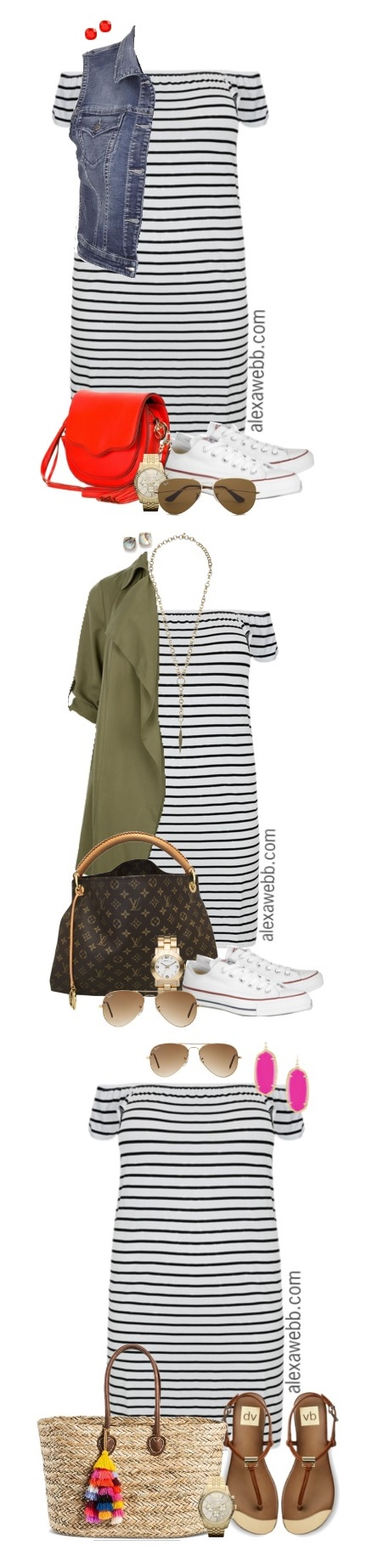 Plus Size Striped Dress Outfits - Plus Size Fashion - alexawebb.com
