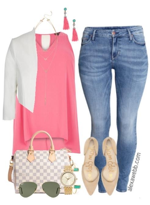 9eb8a73a8c0 Plus Size Summer Skinny Jeans Outfit - Plus Size Fashion - alexawebb.com