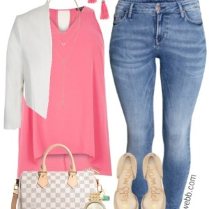 Plus Size Summer Skinny Jeans Outfit - Plus Size Fashion - alexawebb.com