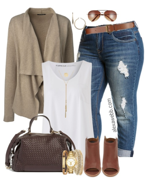 Plus Size Fall Jeans Outfit Alexa Webb