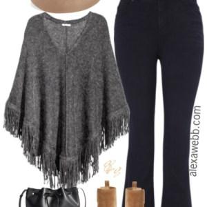 Plus Size Sweater Poncho Outfit - Plus Size Fashion for Women - alexawebb.com #alexawebb