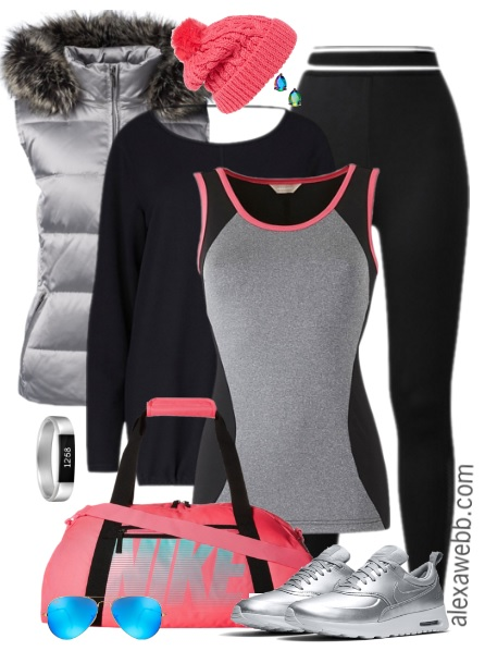plus size activewear outfit