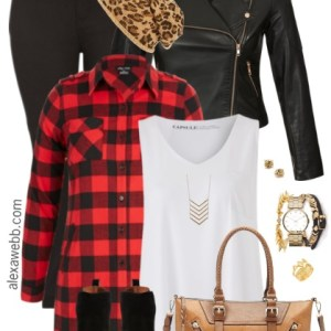 Plus Size Buffalo Plaid Outfit - Plus Size Fashion for Women - alexawebb.com #alexawebb