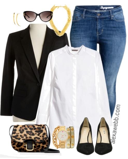 Plus Size Casual Basics - Plus Size Outfit Idea - Plus Size Fashion for Women - alexawebb.com #alexawebb