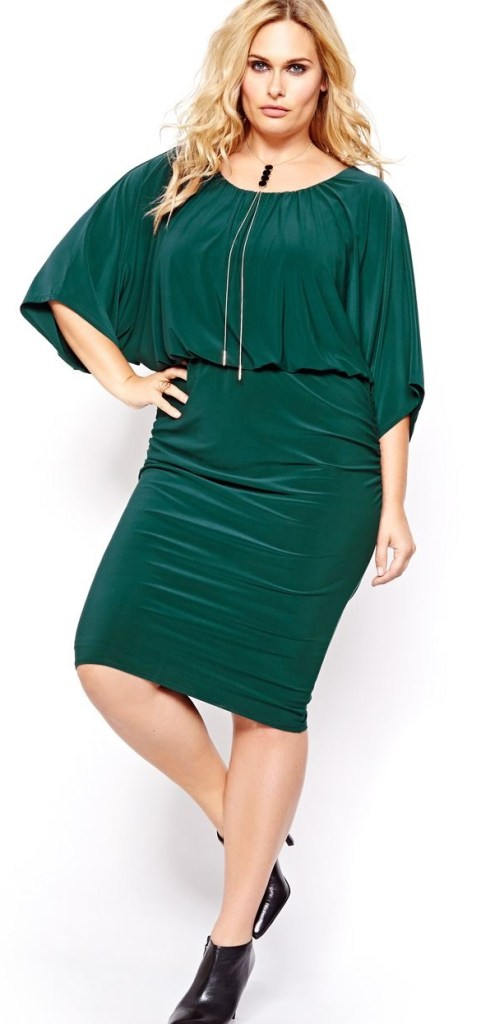 f78ba24385 12 Plus Size Holiday Green Dresses  with Sleeves  - Plus Size Party Dresses  -