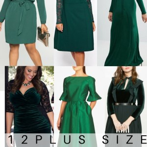 12 Plus Size Holiday Green Dresses {with Sleeves} - Plus Size Party Dresses - Plus Size Fashion for Women - alexawebb.com