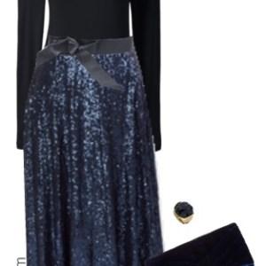 Plus Size Maxi Sequin Skirt Outfit - Plus Size Fashion for Women - alexawebb.com #alexawebb