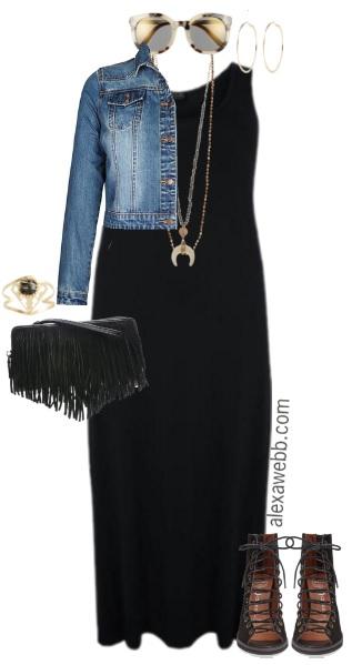 Plus Size Black Maxi Dress Outfits