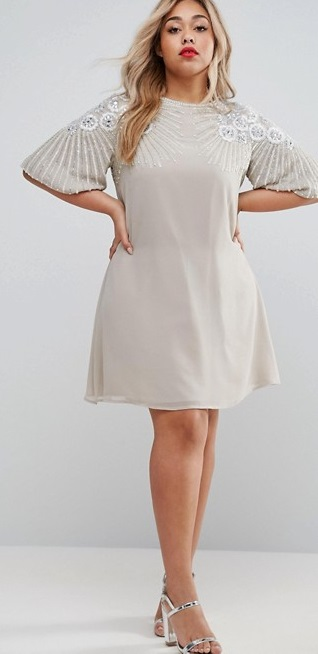 36 plus size wedding guest dresses with sleeves alexa webb for Plus size dresses for wedding guests