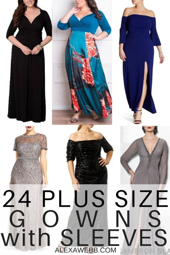 b39f331c8ae 24 Plus Size Long Wedding Guest Dresses  with Sleeves  - Plus Size Gowns  with