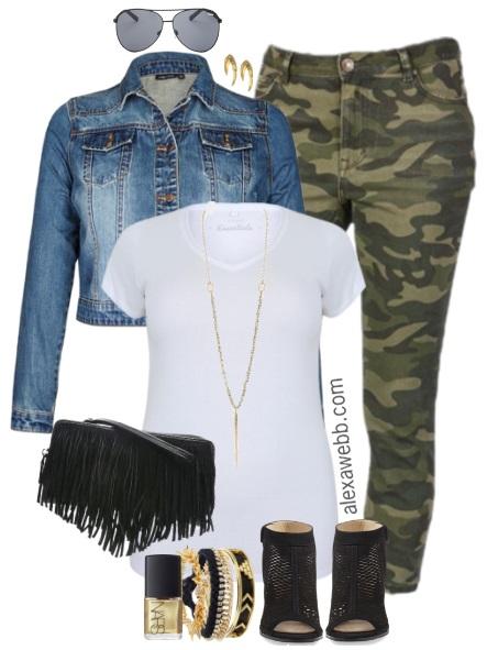 da746d204ba78 Plus Size Camo Pants Outfits - Plus Size Fashion for Women - alexawebb.com #