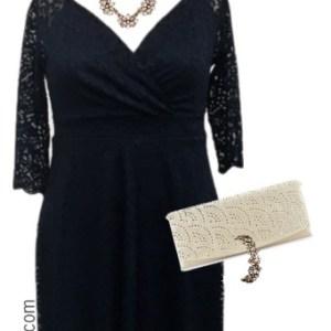 Plus Size Wedding Guest Dress Outfit Ideas - Plus Size Dress with Sleeves - Plus Size Fashion for Women - alexawebb.com #alexawebb