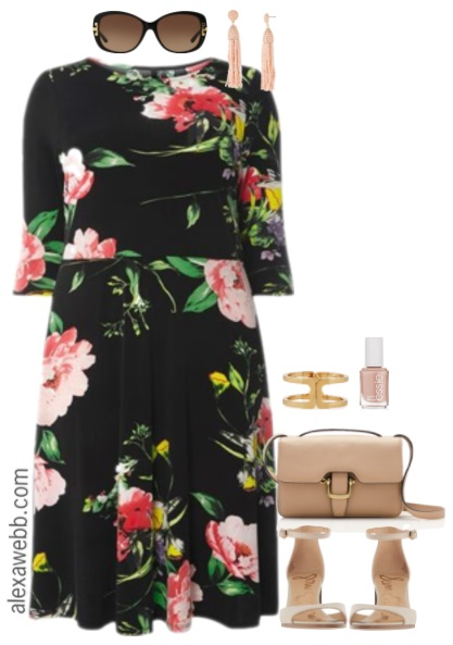 Plus Size Floral Dress Outfit - Plus Size Work Outfit - Plus Size Fashion for Women - alexawebb.com #alexawebb