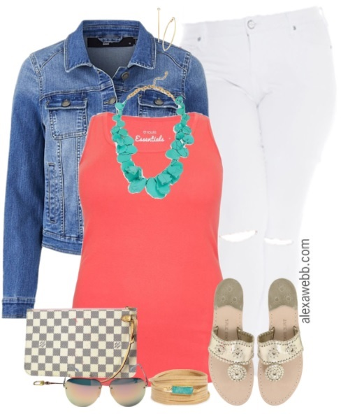 Marvelous Plus Size Summer Coral Outfit