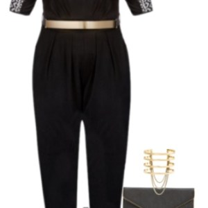 Plus Size Jumpsuit Outfit - Plus Size Outfit Idea - Plus Size Fashion for Women - alexawebb.com