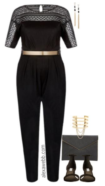 Plus Size Jumpsuit Outfit - Plus Size Outfit Idea - Plus Size Fashion for Women - alexawebb.com