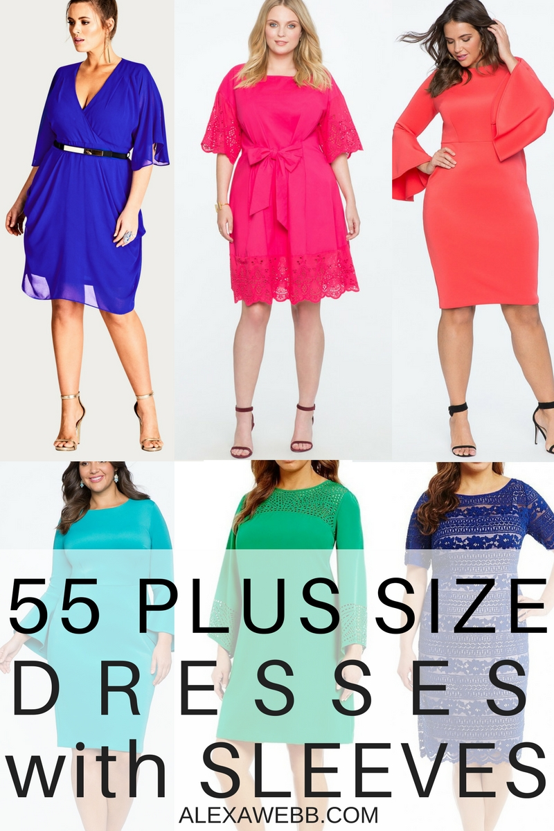 55 Plus Size Wedding Guest Dresses {with Sleeves}
