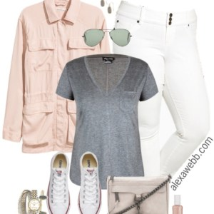 Plus Size White Jeans Outfits - Plus Size Fashion for Women - alexawebb.com #alexawebb