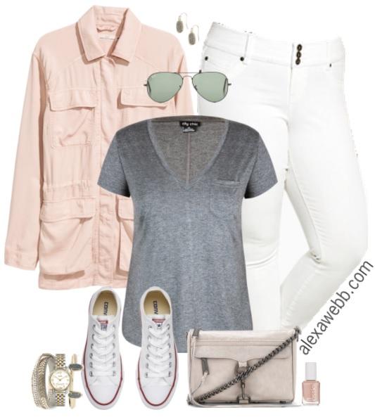 Plus Size White Jeans Outfits - Plus Size Fashion for Women - alexawebb.com #alexawebb