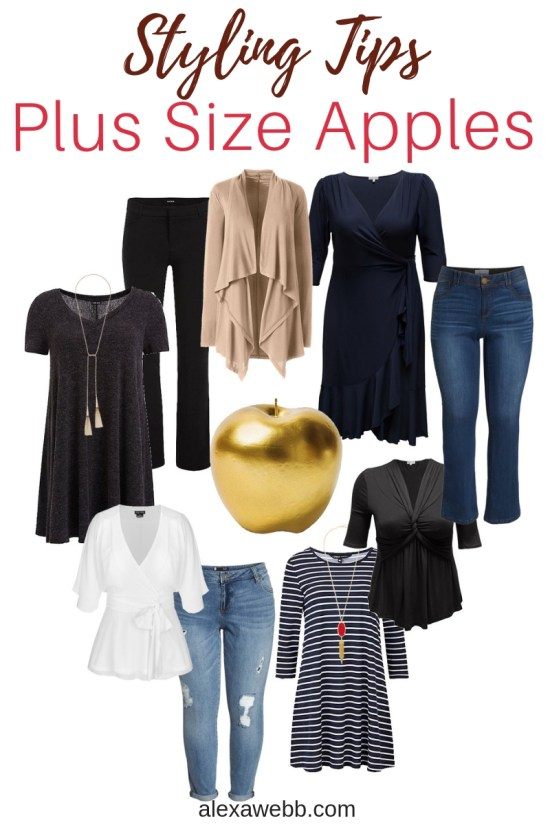 Styling Plus Size Apple Shapes - Apple Shape Outfits Plus Size - Plus Size Fashion for Women - alexawebb.com #plussize #alexawebb