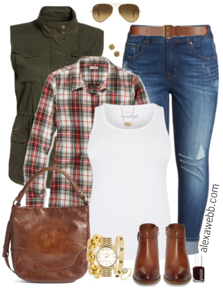 Plus Size Fall Vest Outfits - Plus Size Fall Outfits - Plus Size Fashion for Women - alexawebb.com