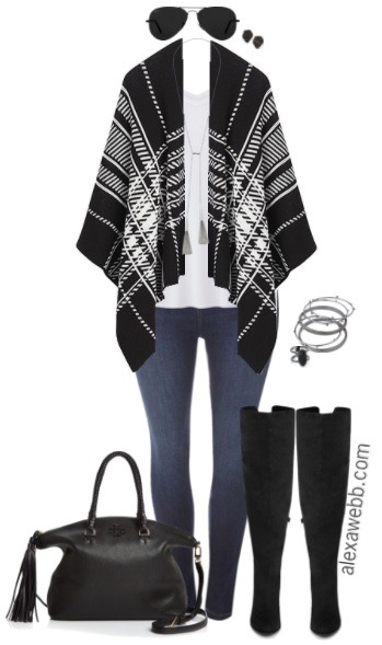 Plus Size Blanket Wrap Outfit