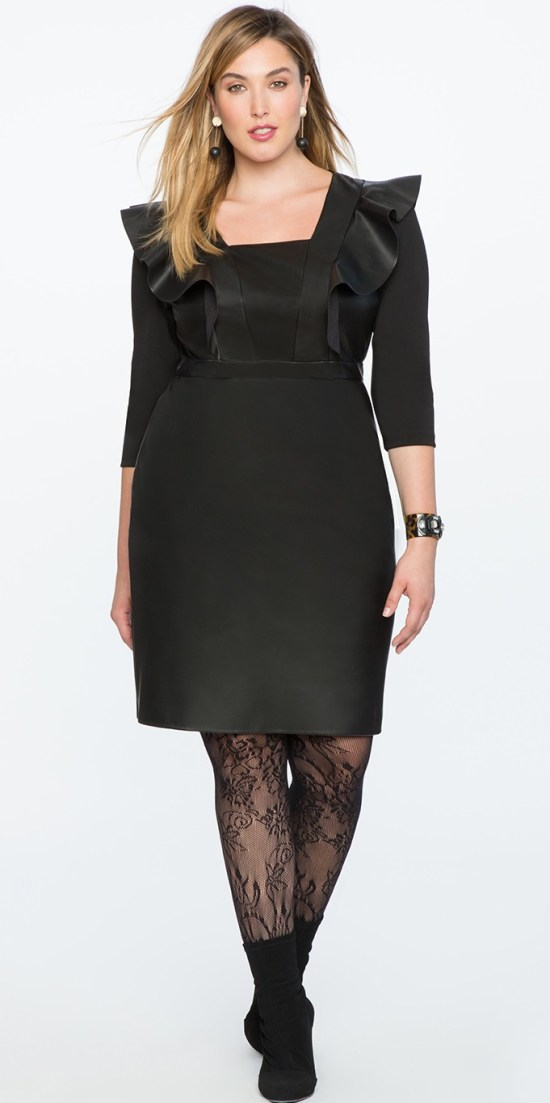 21 Plus Size Black Dresses {with Sleeves} - Alexa Webb