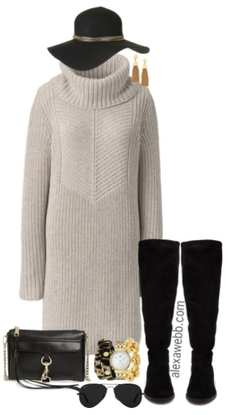 Plus Size Sweater Dress Outfits - Plus Size Fall Outfits - Plus Size Fashion for Women - alexawebb.com #alexawebb