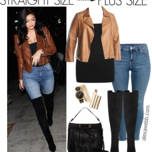 Straight Size to Plus Size – Moto Jacket Outfit - Plus Size Fall Outfit - Plus Size Fashion for Women - alexawebb.com