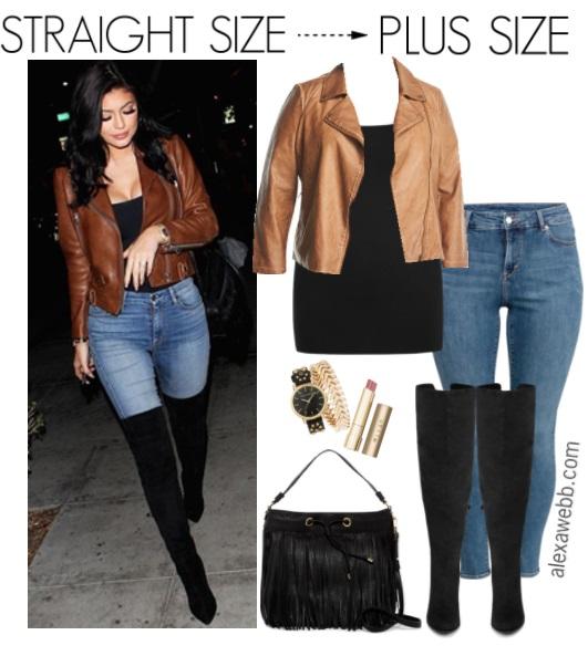 Straight Size to Plus Size – Moto Jacket Outfit - Plus Size Fall Outfit - Plus Size Fashion for Women - alexawebb.com