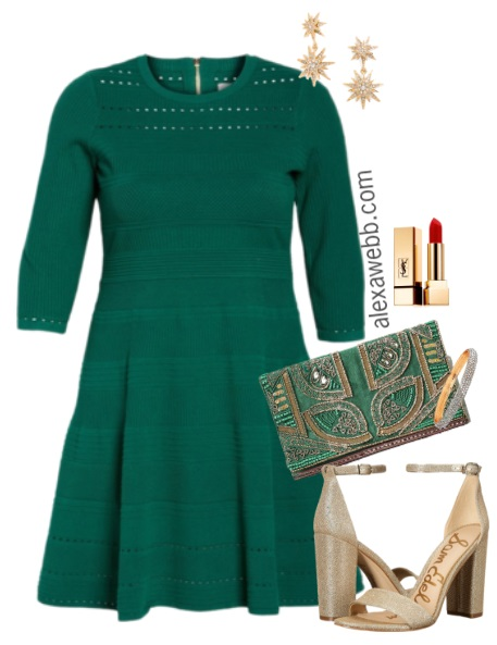 Plus Size Green Dress Outfits - Plus Size Party Dress Outfit - Plus Size Fashion for Women - alexawebb.com #alexawebb #plussize #party #outfit #dress