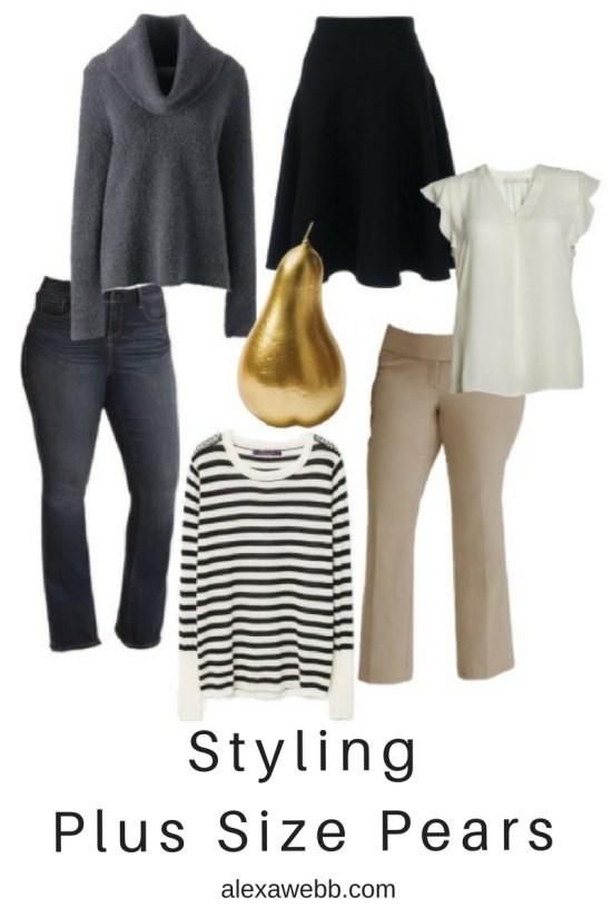 Styling Plus Size Pear Shapes - Plus Size Fashion for Women - alexawebb.com #alexawebb