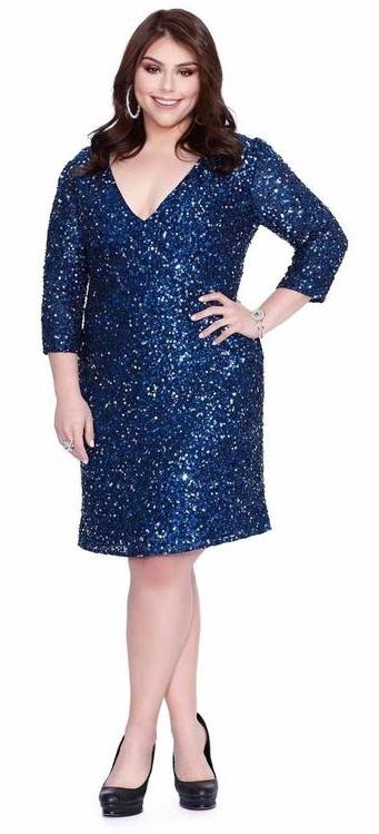 30 Plus Size Sequin Dresses - Alexa Webb