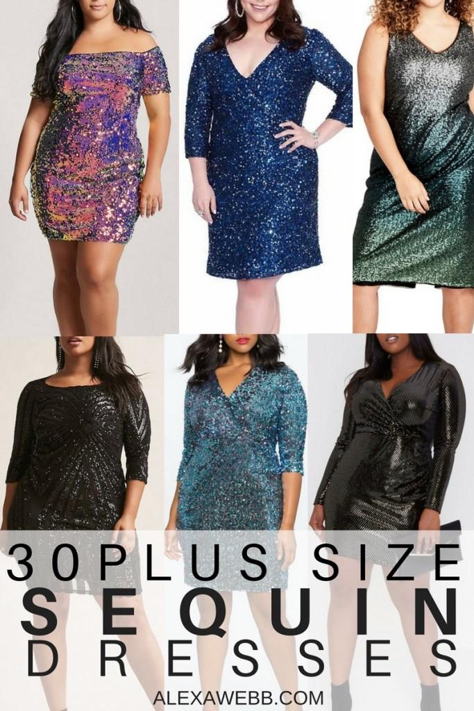 8d4ae4ab5b1 30 Plus Size Sequin Dresses - Alexa Webb