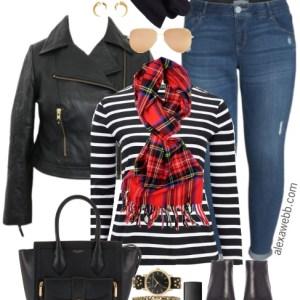 Plus Size Biker Jacket Outfit - Plus Size Fashion for Women #plussize #alexawebb #fall #outfit
