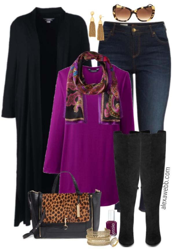 Plus Size Duster Cardigan Outfit - Plus Size Fall Outfit Idea - Plus Size Fashion for Women - alexawebb.com #plussize #alexawebb