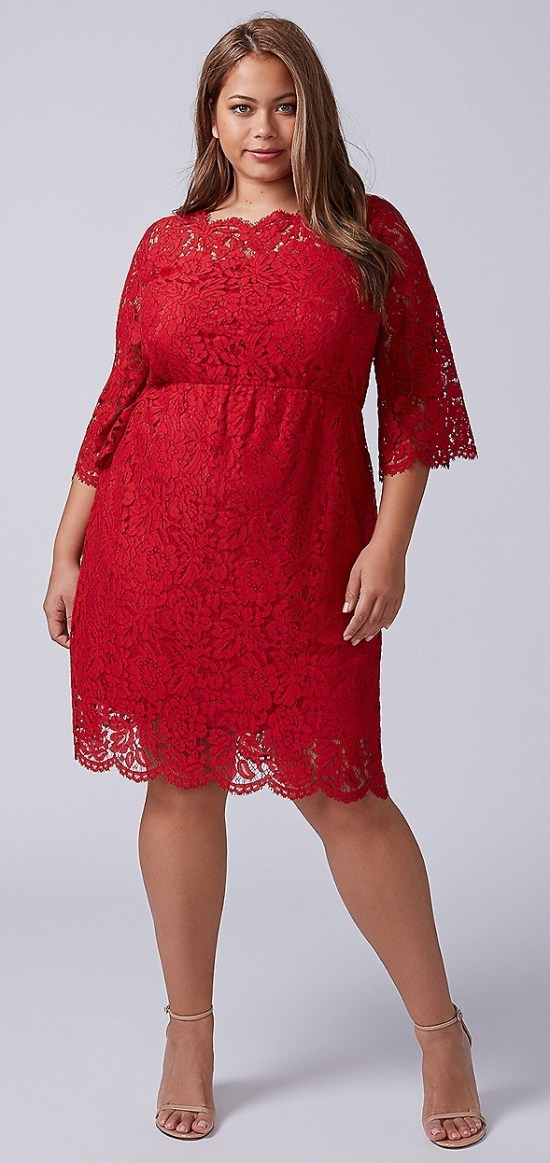 42 Plus Size Party Dresses {with Sleeves} - Alexa Webb